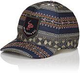 Gucci Men's Snake-Embroidered Jacquard Baseball Cap