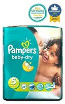 Pampers Baby-Dry Nappies Size 5 Carry Pack - 23 Nappies - Pack of 2