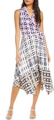 Adelyn Rae Rhiann Geo Print Wrap Dress