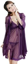Simplicity Sweet and Sheer Lingerie w/ Matching Robe and Panties