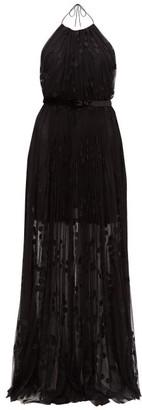Maria Lucia Hohan Milani Polka-dot Tulle Halterneck Maxi Dress - Black