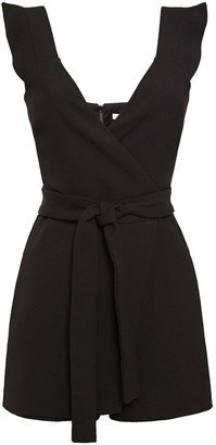 Maje Bora Wrap-effect Stretch-crepe Playsuit