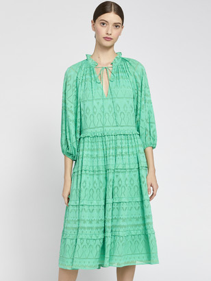 Alice + Olivia Layla Tiered Ruffle Midi Dress