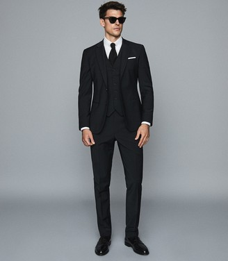 Reiss Pray - Slim Fit Travel Blazer in Black
