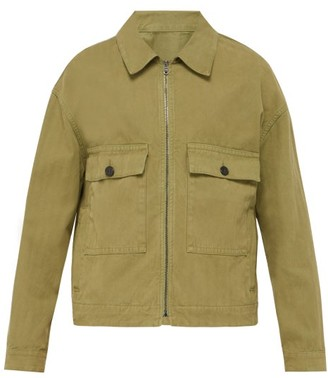 Raey Boxy Herringbone-denim Jacket - Mens - Khaki