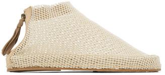 Cherevichkiotvichki White Woven Zip Loafers