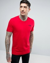 The North Face Simple Dome T-shirt In Red