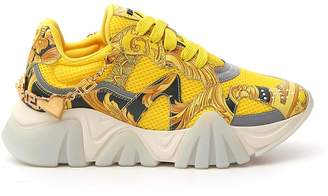 Versace Signature Print Platform Sneakers