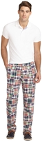 Brooks Brothers Clark Fit Patchwork Madras Pants
