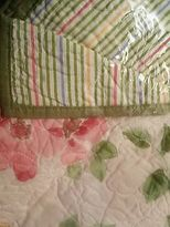 Martha Stewart 1 Dorset Pillow Sham Standard Pink Blue Green Yellow Quilted