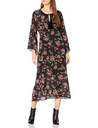 For Love and Liberty Women's Silk Printed Maxi Dress