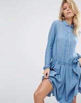 BOSS ORANGE Denim Look Waisted Dress