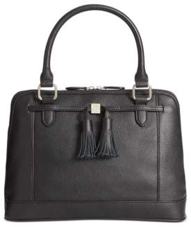 Giani Bernini Pebble Leather Tassel Dome Satchel, Created for Macy's