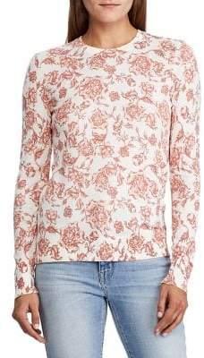 Lauren Ralph Lauren Floral Cotton-Blend Sweater