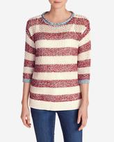 Eddie Bauer Women's Beachside Pullover Sweater - Stripe