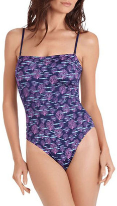 Vilebrequin Facette Square-Neck One-Piece Swimsuit