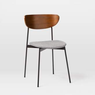 west elm Modern Petal Upholstered Dining Chair