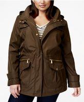MICHAEL Michael Kors Size Hooded Utility Raincoat