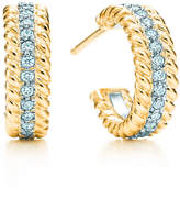 Tiffany & Co. Schlumberger Rope two-row earrings with diamonds, extra small.