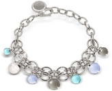 Rebecca Hollywood Stone Rhodium Over Bronze Chains Bracelet w/Hydrothermal Stones