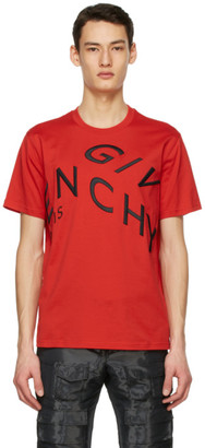 Givenchy Red Refracted Logo T-Shirt
