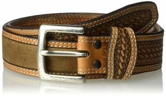 Ariat Unisex-Adults Basket Billet Double Stitch Edge Belt