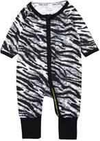 Kids Tales Baby Girls Footed Sleeper Zebra Pajama Cotton Long Sleeve Romper