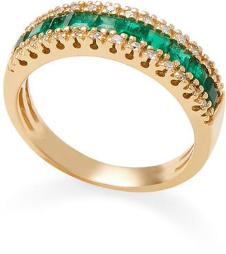 Effy Fine Jewelry 14K 1.27 Ct. Tw. Diamond & Emerald Ring