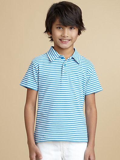 Oscar de la Renta Boy's Striped Jersey Polo