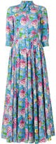 Peter Taylor floral print maxi shirt dress
