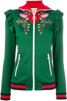 Gucci embroidered technical jacket
