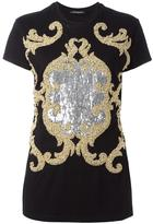 Balmain embellished pattern T-shirt