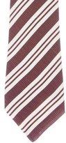 Kiton Silk & Linen Striped Tie w/ Tags
