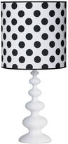 Ethan Allen Modern Spindle Table Lamp, Snow