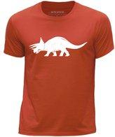 STUFF4 Boy's Round Neck T-Shirt/Dinosaur/Triceratops