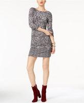 MICHAEL Michael Kors Mixed-Print Shift Dress