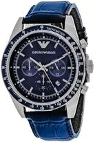 Giorgio Armani Classic Collection AR6089 Men's Leather Strap Watch with Chronograph