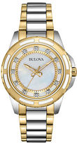 Bulova Ladies Two Tone Watch with Diamond Markers