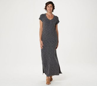 Isaac Mizrahi Live! Regular SOHO Ribbed Maxi Dress with Side Slits