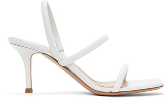Gianvito Rossi White Vernice 70 Heeled Sandals