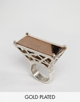Low Luv x Erin Wasson Silver Plated Cage Ring
