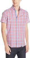 Stone Rose Men's Plaid Short Sleeve Button Down Shirt