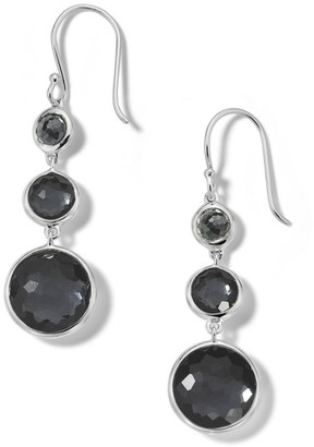 Ippolita Lollipop Lollitini Sterling Silver, Hematite Doublet & Hematite 3-Stone Drop Earrings