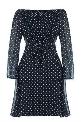Yumi Bardot Top Belted Dress
