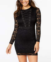 Material Girl Juniors' Lace-Up Bodycon Dress
