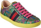 Gucci Ace Metallic Brocade Low-Top Sneaker