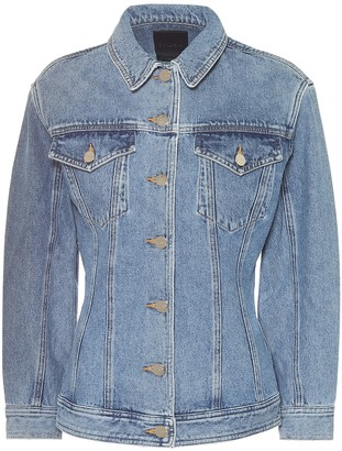 Gold Sign The Waisted denim jacket