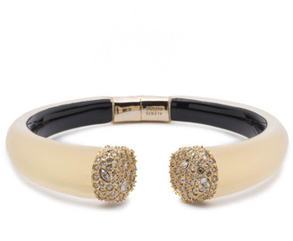 Alexis Bittar Crystal Encrusted Pave Brake Hinge Bracelet