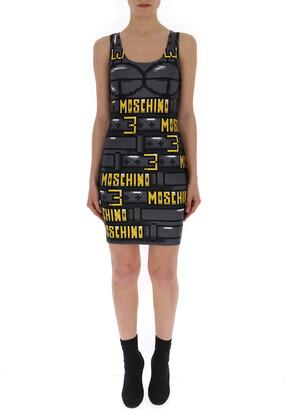Moschino Graphic Printed Bodycon Dress