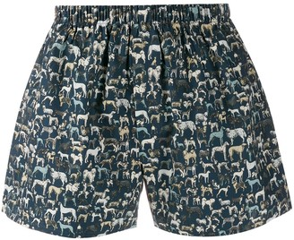 Sunspel Liberty dogs printed boxers